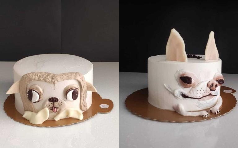 """""""看起來好吃吉了""""!神還原超開眼距「吉娃娃客製蛋糕」"""