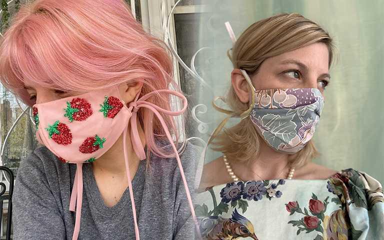 國外瘋「浮誇系口罩」,成套花卉、草莓刺繡、漸層彩虹什麼都有!