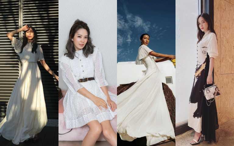 每個女生衣櫃都該有件「小白洋」!Melody、楊謹華、潮人莫莉、侯佩岑通通都穿上白色洋裝耍仙氣