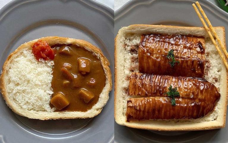 超狂「吐司創意料理」上桌啦!麵包屑當白飯、法國麵包當鰻魚 你捨得吃掉它嗎?