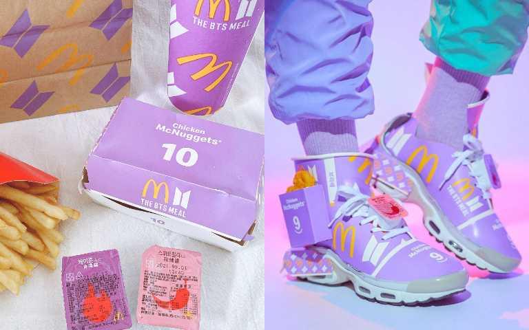 麥當勞 x BTS?!超狂藝術家用「BTS套餐」紙盒做成潮鞋,不知道還以為又有新聯名!