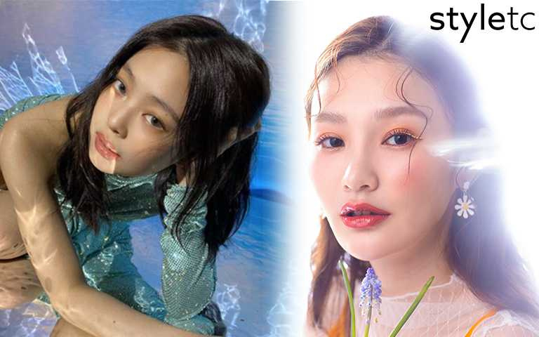 Jennie的高級臉用的是「陽光金」打亮,少女的膠原蛋白可以輕鬆畫出來!