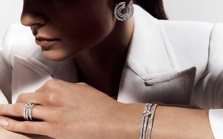 流瀲幾何極簡裝飾藝術!路易威登「Pure V」系列高級珠寶  優雅演繹V字摩登創意線條