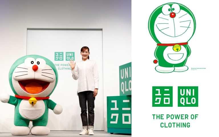 UNIQLO把「哆啦A夢」變身綠色,擔任全球永續發展大使,攜手綾瀨遙及其他全球品牌大使共同推廣品牌永續經營