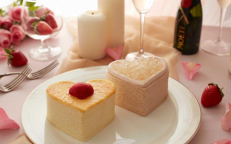 許你一個特別的情人節蛋糕!心心相印與玫瑰花瓣造型 甜進另一半的心裡
