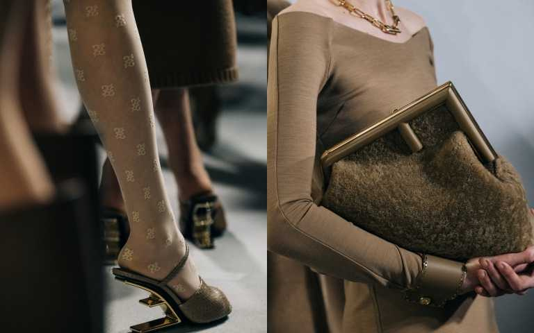FENDI推出全新FENDI FIRST包款與鞋款,把F字母變成鞋跟、手拿包!