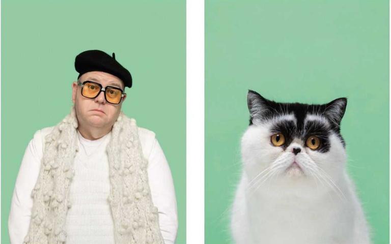 寵物像主人不是說說而已!英國攝影師神作品風靡全球 快抱起你的毛小孩仔細瞧瞧