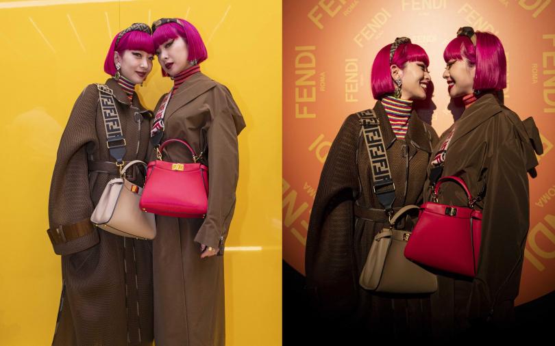 日本最潮雙胞胎姊妹花-AMIAYA一頭桃色短髮搭上時髦小包搶盡歐美時尚版面!!