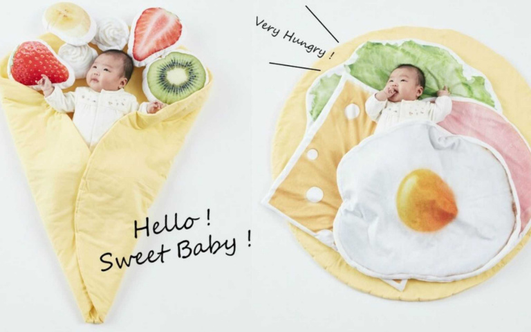 寶寶、毛孩都能包覆的日本「可麗餅毛毯」,鹹甜口味都有喔!