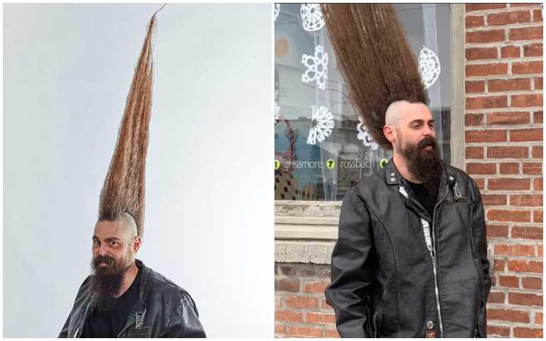 什麼都不奇怪!108公分的「世界最高髮型」,頭上簡直多了一個小孩的高度!
