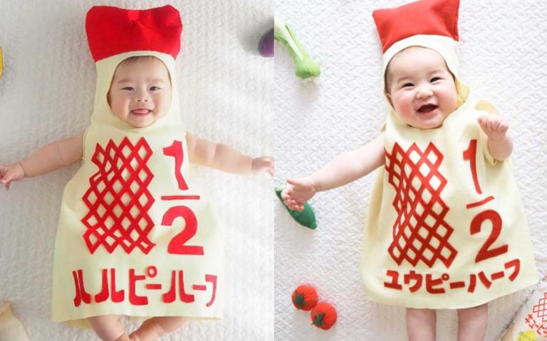 萌翻天!超可愛「Q比美乃滋寶寶裝」,還印上獨一無二的「製造日+重量」