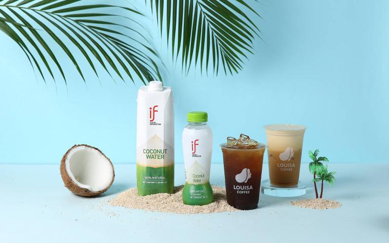 喝過「椰子咖啡」嗎?泰國銷售冠軍「IF 100%椰子水」正式登台,聯名路易莎推出「生椰美式/拿鐵」!