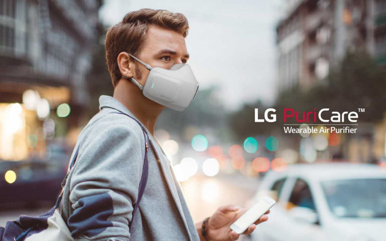 LG也有做口罩?簡直帥翻了~
