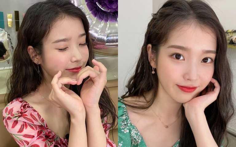 IU畫什麼都美!復古玫瑰色、原生眉、波浪懷舊捲髮 韓系時髦教科書非她莫屬!