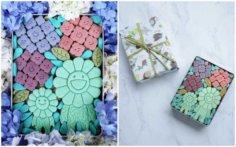 限量100盒!村上隆 x Tonari no Kaikado推出繡球花季限定「太陽花曲奇餅禮盒」,美到逆天啦!