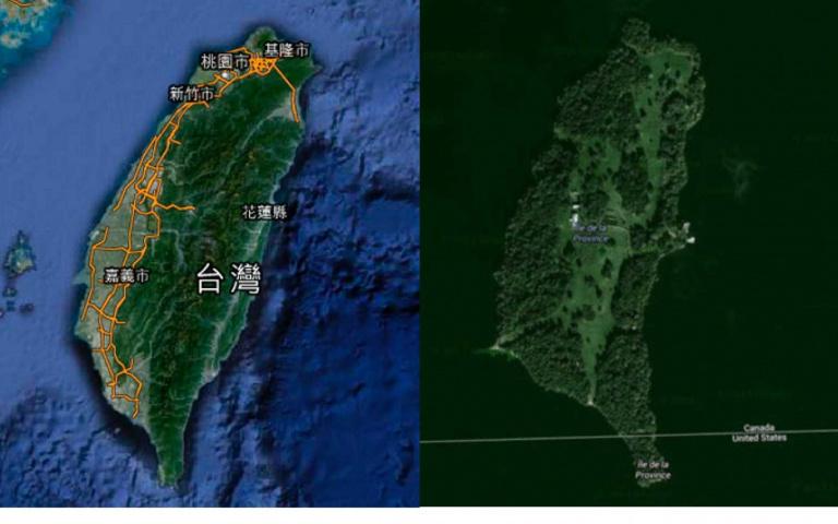 「平行世界」真的存在?神祕小島與台灣「相似度90%」,連「恆春半島」都完美複製!