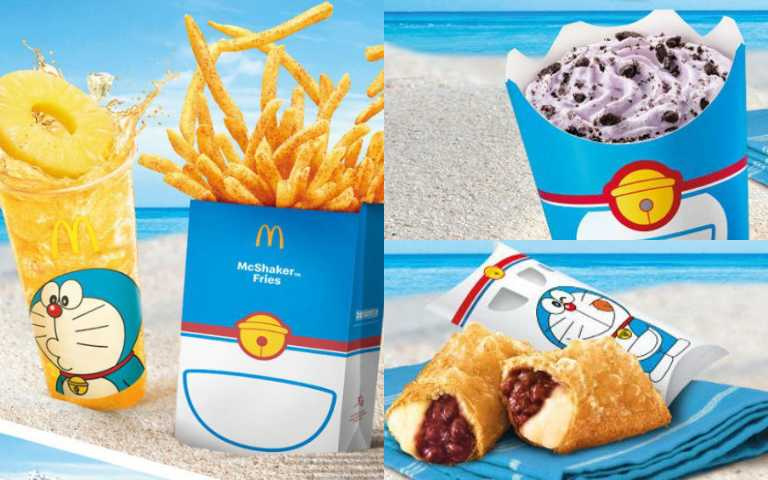 「麥當勞 x 哆啦A夢」推聯名餐點!香芋冰炫風、百寶袋薯條、紅豆卡士達超誘人!