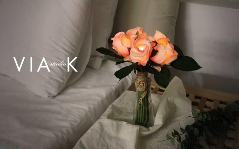不便出門賞花,就來一束帶有淡淡花香的「花束夜燈」!療癒減少外出的心