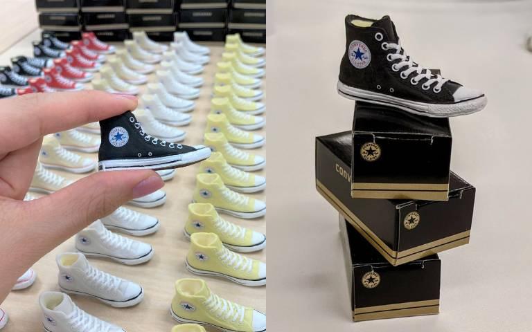 「CONVERSE經典帆布鞋」縮小了!超Q造型橡皮擦,還有附「鞋盒」神還原!
