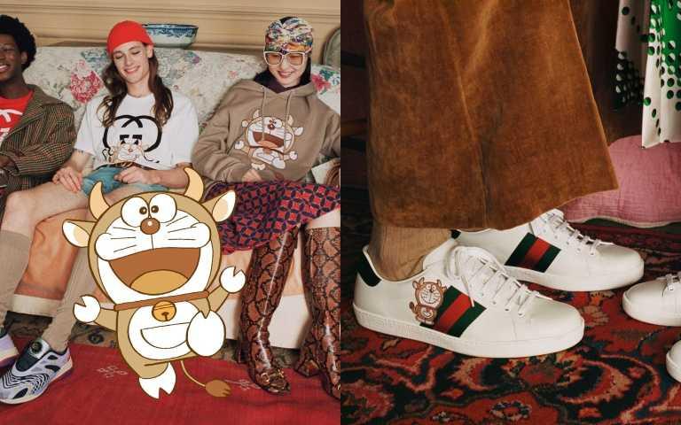偽裝成牛的多啦A夢太俏皮!GUCCI農曆新年攜手多啦A夢玩變裝 躍上包款、大學衫、托特包...給你滿滿的可愛