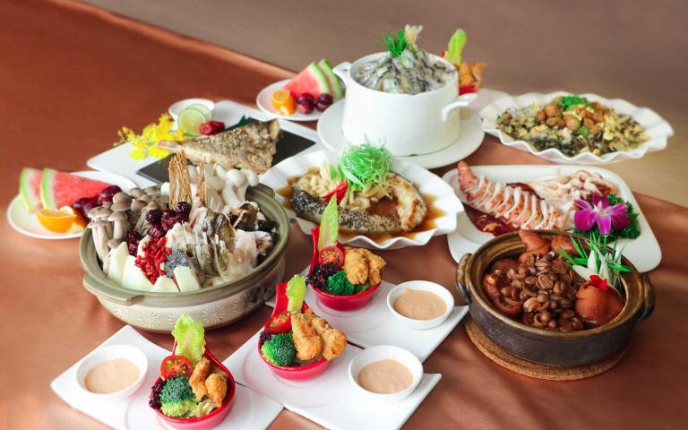 海鮮控舉手!活跳跳龍膽石斑結合澎湖在地食材入菜 各種吃法都好味