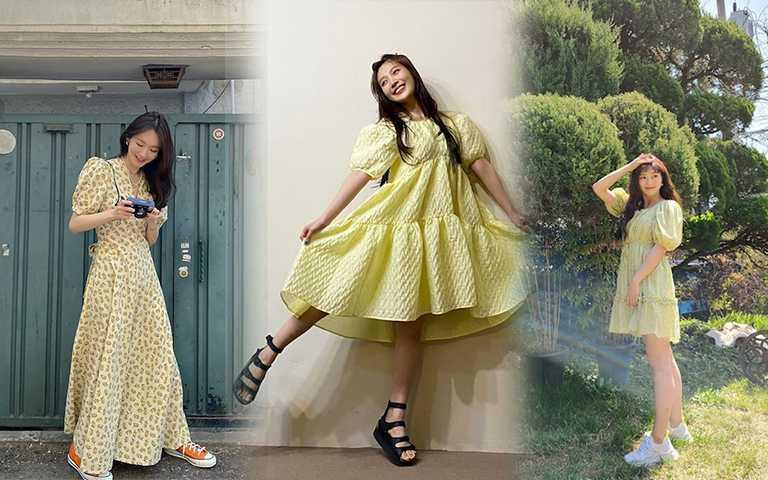 """韓星都在穿的「小雞色洋裝」,夏天想穿它這些""""眉角""""要注意"""