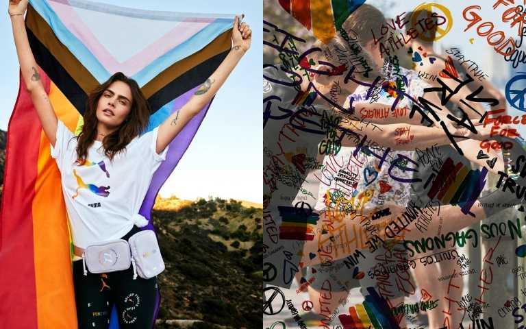為愛發聲!VERSACE拍賣Gaga「Born This Way Ball」皮衣、adidas Originals推粉嫩彩虹手繪球鞋...品牌用彩虹迎接Pride Month