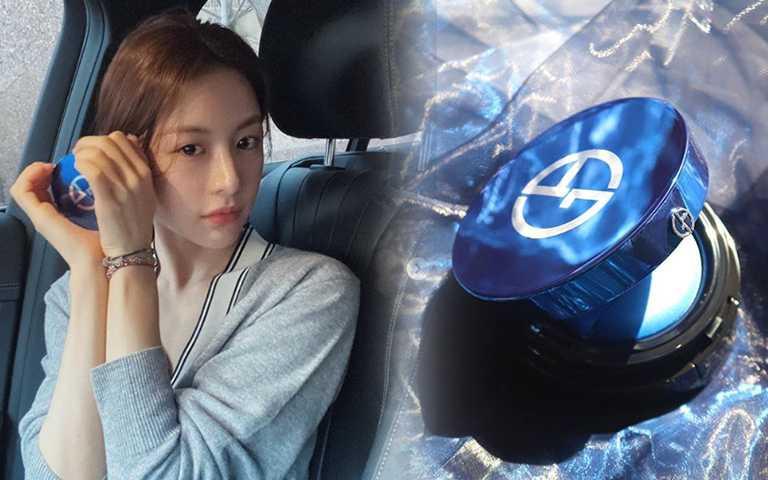 韓妞搶曬Armani #藍氣墊,30%含水量造就「高級麻糬肌」超生火!