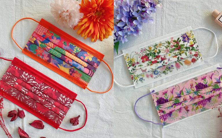 MIT親親口罩精選六款「新春花卉口罩」,新年禮盒今日開始開放預購嘍~