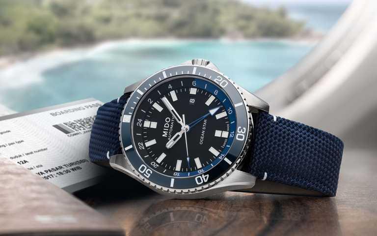 遠征海洋的時間動力美學!美度表Ocean Star海洋之星兩地時區腕錶滿足航海探險夢