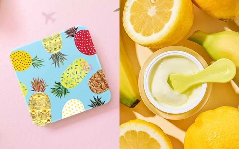 夏日搞怪萌系美妝報到!旺旺來鳳梨粉盒、給臉蛋吃的檸檬奶凍必須收一波~