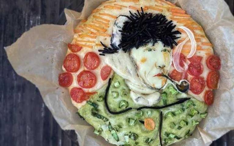 原來是梵谷自畫像,我還以為是披薩呢!日本主婦無極限 把「世界名畫」通通搬進便當裡!
