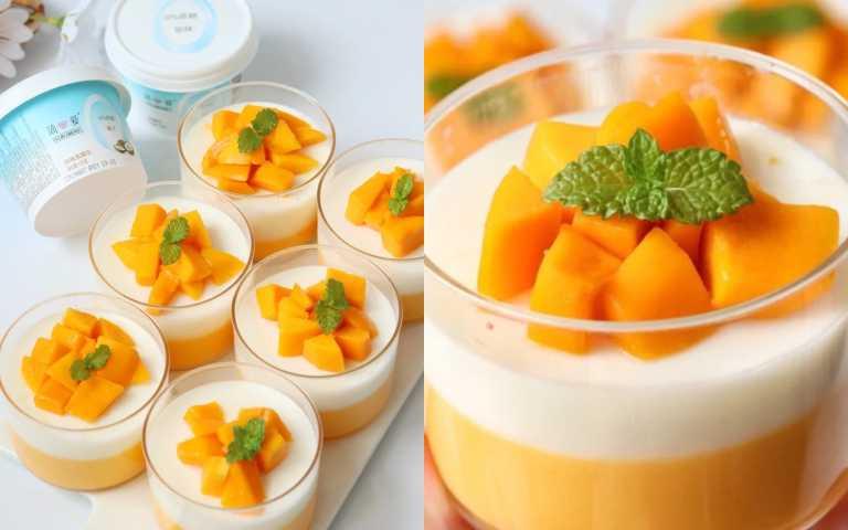 夏天非吃芒果不可!絕美「椰香芒果布丁」食譜來了,在家就能輕鬆消暑!