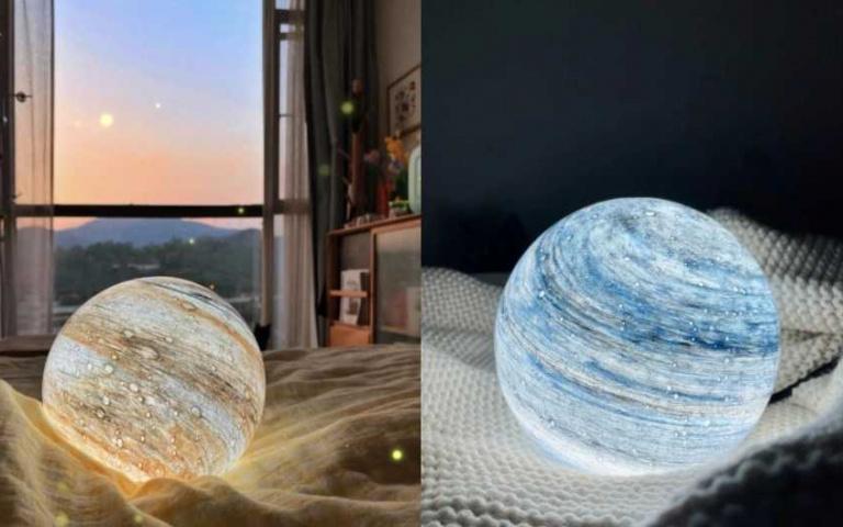 美炸「星球小夜燈」只要幾百元就能入手!房間一秒就能氣氛爆棚