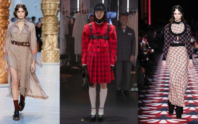 復古浪漫vs.摩登都會:2大關鍵重點穿搭出今年風「格紋」