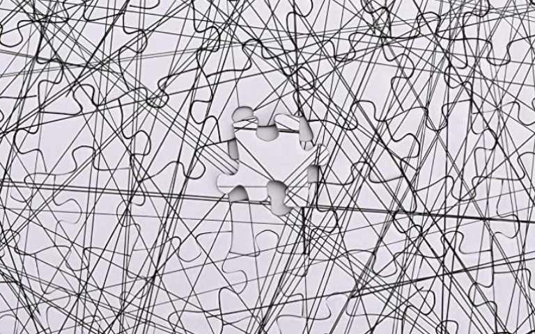 拼到懷疑人生!只有黑色線條的1000片拼圖,沒耐性的人千萬別試!