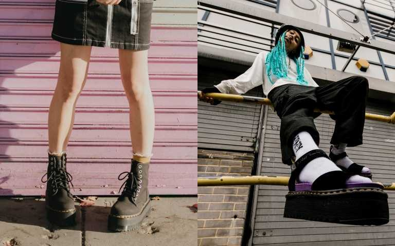 嬌小女生福音!Dr. Martens馬汀鞋再度聯名X-girl 超限量款紫底馬汀涼鞋必須收!