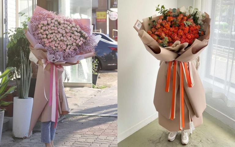 慰藉前線人員的辛勞!送上韓國大熱「巨型花束」也為花農打氣