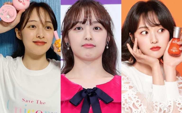 學金寶拉的高段水鑽妝搭配魅惑眼妝 打造韓國嫩感系練習生妝容