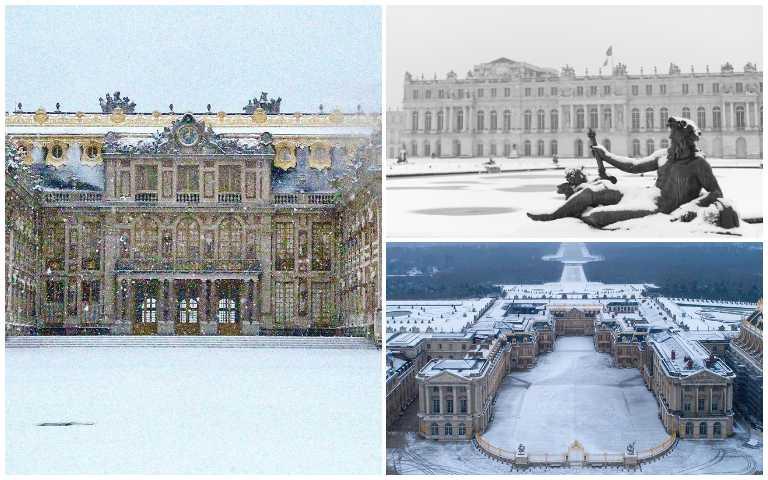 暴雪後的凡爾賽宮!極致奢華的宮殿,在白濛濛的雪景下又更美了!