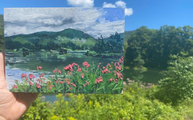 可以跟背景融合的油畫作品,筆觸下的畫面融合情境下更是令人驚豔!來自美國的藝術家Kate Avery~