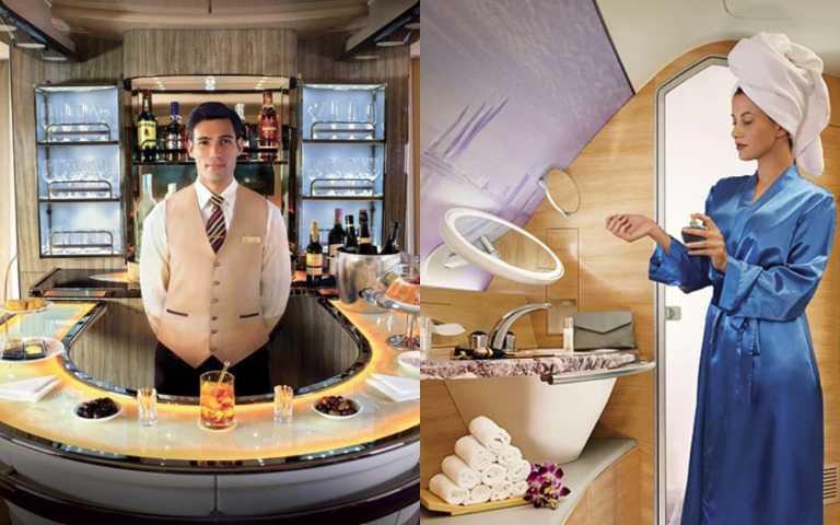 在空中還能洗澡!土豪航空A380頭等艙提供寶格麗盥洗包、酒吧超享受!