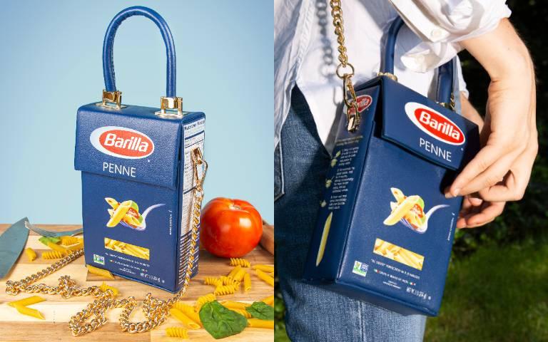 「義大利麵」背起來!設計師防疫期間自煮太煩悶,把Barilla包裝改造成「皮革時尚包」!