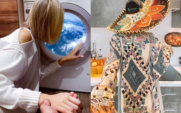 不能出國又如何?IG百萬網紅在家也能放閃,竟將洗衣機P成飛機窗!