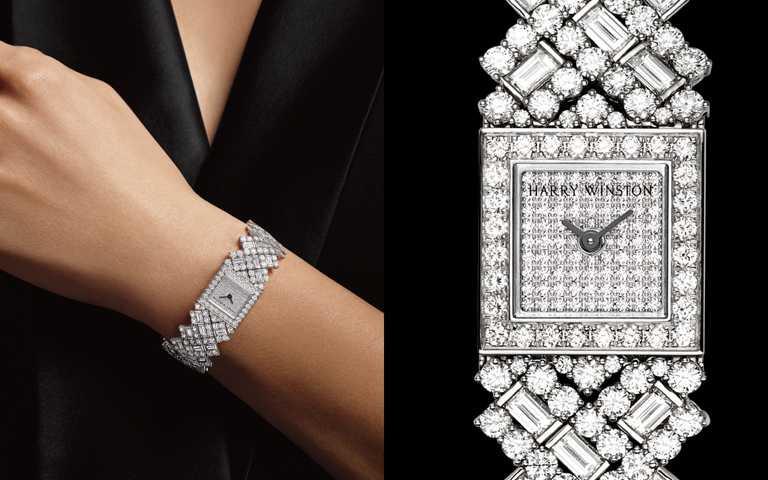 海瑞溫斯頓全新限量珠寶腕錶抵台!完美融合珠寶「錦簇鑲嵌」經典技法與製錶工藝