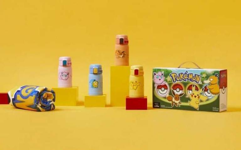 全球只有台灣能買!4款「寶可夢保溫瓶」亮相 皮卡丘浴巾免費送