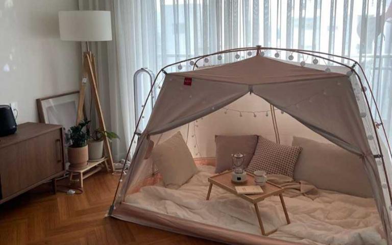 韓國大熱!Chill在家的夢幻室內帳篷,不用出門就能感受露營氣氛