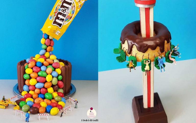 巧克力石頭+奶油汽油!來自義大利的「甜點世界」,螞蟻人該搬家啦!