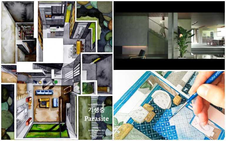 建築師用水彩畫出電影空間,《寄生上流》豪宅、《樂來越愛你》繽紛公寓全都拆解!
