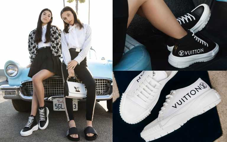 路易威登重磅推出全新LV Squad運動鞋與LV Sunset鞋款系列!當紅Youtuber Emma Chamberlain、抖音女王Charli D'Amelio搶穿!